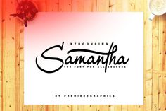 Samantha Script - a new fresh & modern script with a calligraphy style. Samantha designed and shared by Premiere Graphics. Samantha is your new feel-good font for your next project! Handwritten Fonts, Script Fonts, All Fonts, Calligraphy Fonts, Business Brochure, Business Card Logo, Samantha Font, Alphabet, Lettering
