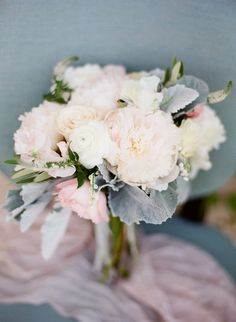 Peony and Dusty Miller Bouquet | photography by @KLPsBoards  http://kristenlynne.com/