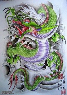 Anime Tattoos, Funny Tattoos, Body Art Tattoos, Sleeve Tattoos, Japanese Dragon Tattoos, Japanese Tattoo Art, Japanese Tattoo Designs, Dragon Tattoo Shoulder, Dragon Tattoo Back