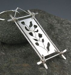 Sterling Silver Botanical Pendant Necklace by annewalkerjewelry, $137.00