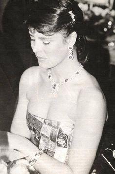 Princess Caroline of Monaco at the Rose Ball.1982.