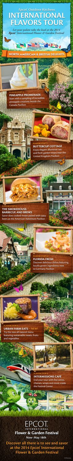Epcot Outdoor Kitchens at Epcot International Flower & Garden Festival. #WaltDisneyWorld #tips #trips #vacations #EpcotInSpring