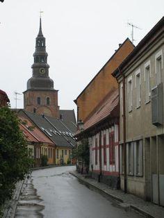 Ystad, Sweden. The town where the Wallander crim serie is filmed.