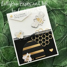 Stampin\' Up! Honey Bee Bundle with Golden Honey Specialty DSP card by Lori Pinto Stampin Pretty, Stampin Up, Card Making Inspiration, Making Ideas, Mary Fish, Bee Cards, Card Sketches, My Stamp, Really Cool Stuff