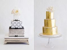 Stunning chic wedding cakes created by Faye Cahill