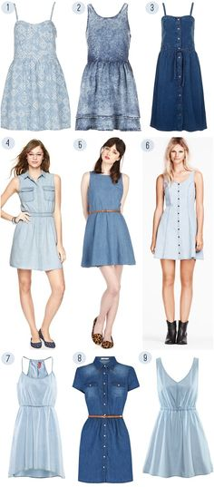 Denim Dress Parade with H, Oasis and Topshop