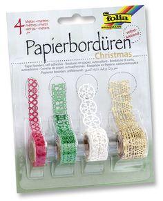 Mit unseren neuen selbstklebenden Papierbordüren haben Sie vielfältige Dekorationsmöglichkeiten. Mehr unter http://www.folia.de/produkte/neuheiten.html