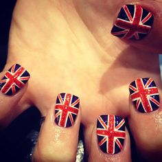 British flag  #onedirection but i would need to make both thumbs an irish flag