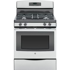 Ge Freestanding 5 Cu Self Cleaning Gas Range Stainless Steel Gray Apartment Size