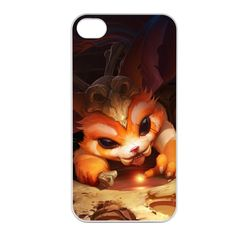Gnar-001 League of Legends LoL case cover for Apple iPhone 4 / 4S - Plastic White. Product is made of high quality materials. Accessory Only. Device is not included. Material: Flexible Silicone. We can provide custom phone cases with any design for you. If you want, please contact us!. Design/Finish: Glossy, Printed all around the corners and edges!.