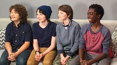 Stranger Things: Gaten Matarazzo, Finn Wolfhard, Noah Schnapp, and Caleb McLaughlin