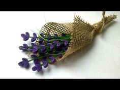 Bouquet of Quilling Lavender Flowers - YouTub - Paper Quilling Cards, Paper Quilling Flowers, Paper Quilling Jewelry, Paper Quilling Designs, Quilling Patterns, Quilling Dolls, Quilling Videos, Arte Quilling, Quilling Craft