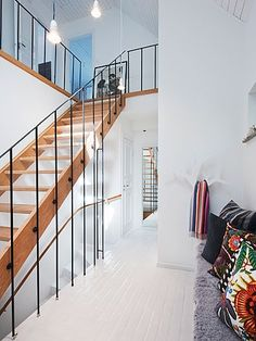 * CURATED * STYLE * Love the stairs, painted floors and pillows…