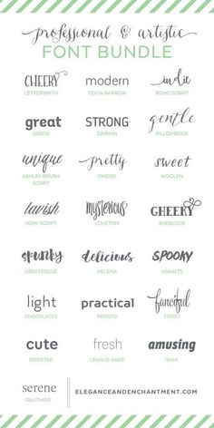 Professional and Artistic Font Bundle, Tattoo, Professional and Artistic Font Bundle - a collection of typefaces in a variety of styles to keep you covered for any project that comes your way! Fancy Fonts, Cool Fonts, Edgy Fonts, Feminine Fonts, Pretty Fonts, Creative Fonts, Photoshop, Typographie Fonts, Jugendstil Design