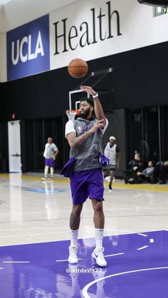 Basketball Players, Basketball Court, Ucla Health, Jersey Nike, Anthony Davis, Magic Johnson, Los Angeles Lakers, Kobe Bryant, Lebron James