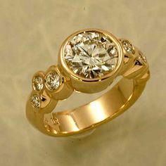 Neal Rosenblum: 18k gold and diamond engagement ring