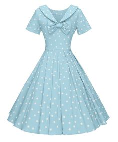 Marilyn polka dots dress is part of Dresses Swing Dress Made From Polyester With Spandex,Comfortable,Short Sleeves,Lovely Pleated, Invisible Zipper Garment Care Handwash and Machine co - Modest Dresses, Pretty Dresses, Beautiful Dresses, Casual Dresses, 1950s Dresses, Elegant Dresses, Sexy Dresses, Summer Dresses, Formal Dresses