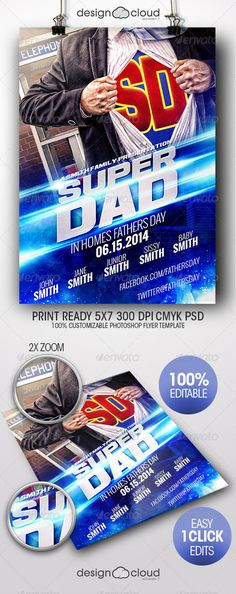 Super Dad Father's Day Flyer Template - Holidays Events