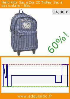 Hello Kitty Sac à Dos 2C Trolley, Sac à dos scolaire - Bleu (Chaussures). Réduction de 60%! Prix actuel 34,00 €, l'ancien prix était de 85,00 €. https://www.adquisitio.fr/hello-kitty/sac-dos-2c-trolley-sac-3