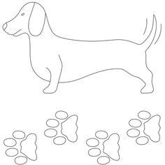 Notion: Stencil Template Dachshund DOG DOXIE PAWS