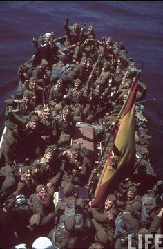 Soldiers of Legion Condor leaving Spain ?. Location: Spain Date taken: May 1939 Photographer: Hugo Jaeger