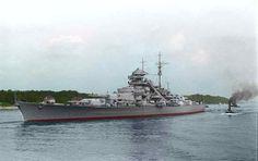 World War II: German Battleship Bismarck Bismarck Ship, Bismarck Battleship, Heavy Cruiser, Naval History, Ww2 History, Army Vehicles, Boat Stuff, Navy Ships, History Photos