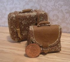 Miniature luggage by janetharvie on Etsy, $25.00