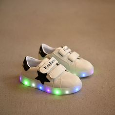 bedaef6503e3b White basket led kids trainers light up shoes boy girl led childrens shoes  chaussure enfant led slippers luminous sneakers