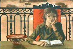 """""""Fille lisant (Girl Reading) / Jean-Pierre Alaux (b. 1925)"""