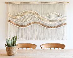 "Large Macrame Wall Hanging - Macrame Curtains - Macrame Wall Art - Macrame Patterns - Wall Tapestry - Home Decor - Woven Wall Art - ""ARYA"" Macrame Wall Hanging Tutorial, Macrame Wall Hanging Patterns, Large Macrame Wall Hanging, Macrame Patterns, Quilt Patterns, Canvas Patterns, Hanging Art, Tapestry Weaving, Wall Tapestry"