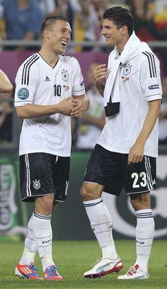 Lukas Podolski, Mario Gomez // Euro 2012