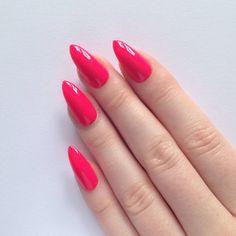 hot pink manicure stiletto - Google Search