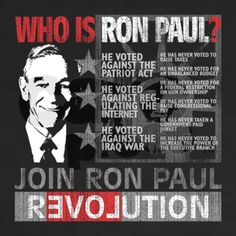 Who is Ron Paul?  www.RonPaul2012.com I wish he didn't retire!  I hope we can elect a congress full of men & women that adhere to the principles of a REPUBLIC like Ron Paul did.