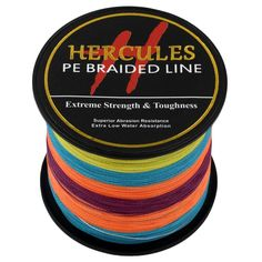 500m 547yds Multicolor 10lbs-100lbs Hercules Pe Dyneema Braid Fishing Line Spectra 4 Strands * Read more reviews of the product by visiting the link on the image.
