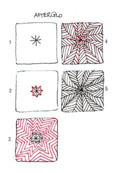 Open Seed Arts: Afterglo ~ a #Zentangle tangle by #CertifiedZentangleTeacher Carole Ohl