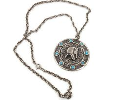 Egyptian King Tut necklace  Vintage 1970s  Big by InVintageHeaven, $24.00