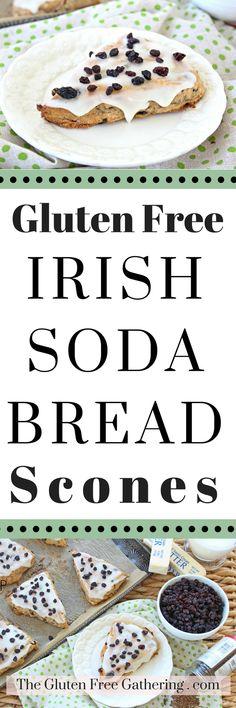 Gluten Free Irish Soda Bread Scones – The Gluten Free Gathering #glutenfree #glutenfreerecipes #IrishSodaBread #StPatricksDay #Scones #Glutenfreescones #glutenfreebaking