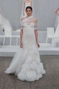 Monique Lhuillier Bridal Spring 2015 - I am so confused on why I like this, but I do. I would not wear it though.