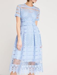 MAJE - Embroidered lace dress   Selfridges.com Vintage Shorts, Vintage Dresses, Crochet Lace Dress, Patchwork Dress, Maje, Embroidered Lace, Cheap Dresses, Short Sleeve Dresses, Clothes For Women