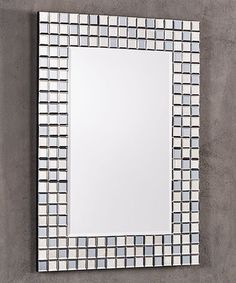 This Mosaic Tile Wall Mirror is perfect! #zulilyfinds