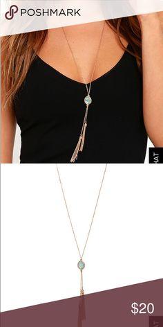Lulu*s Tassel Necklace Super cute brand new necklace! Lulu's Jewelry Necklaces