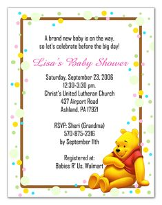 Winnie the pooh baby shower invitations cute goin with the baby shower pooh bear baby shower invitations to make your attractive baby filmwisefo