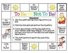 To Be or Not To Be...a game about the verb to be