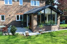 Home extension, gable ended garden room room extension House Extension Plans, House Extension Design, Rear Extension, House Design, Extension Ideas, Orangerie Extension, Conservatory Extension, Conservatory Roof, Bungalow Extensions