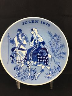 Vintage Christmas Plate, Julen 1970, Limited Edition Series, Porsgrund Norway, Road to Bethlehem, Christmas Collectors Plate by CapeCodModern on Etsy