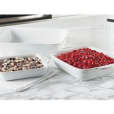 Look at how that cherry cobbler pops in the white baking dish - make your dessert a decoration your table.
