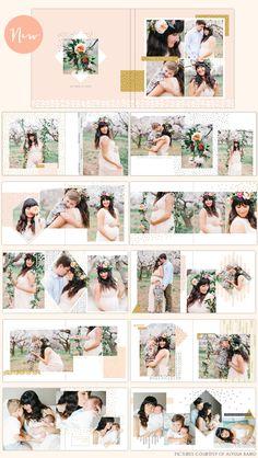 Photoshop templates - album design | Photoshop templates for photographers by Birdesign