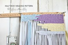 The Country Farm Home: HALF ROW WEAVING: A New Rag Rug Pattern and Tips on the Technique