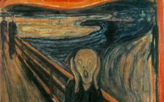 """""""The Scream"""" is the popular name given to a composition by the Expressionist artist Edvard Munch in It shows a figure with an agonized expression against a landscape with a tumultuous orange sky. (Wikipedia) (""""The Scream"""" by Edvard Munch) Harry Potter Comics, Harry Potter Memes, Wassily Kandinsky, Henri Matisse, El Grito Edvard Munch, Le Cri Munch, Henri De Toulouse-lautrec, Memes Historia, Most Expensive Painting"""