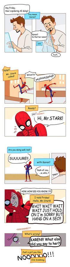 Peter Parker oneshots :) – Haustiere – Marvel – - New Sites Funny Marvel Memes, Dc Memes, Marvel Jokes, Avengers Memes, Marvel Avengers, Meme Comics, Memes Humor, Funny Humor, Tom Holland